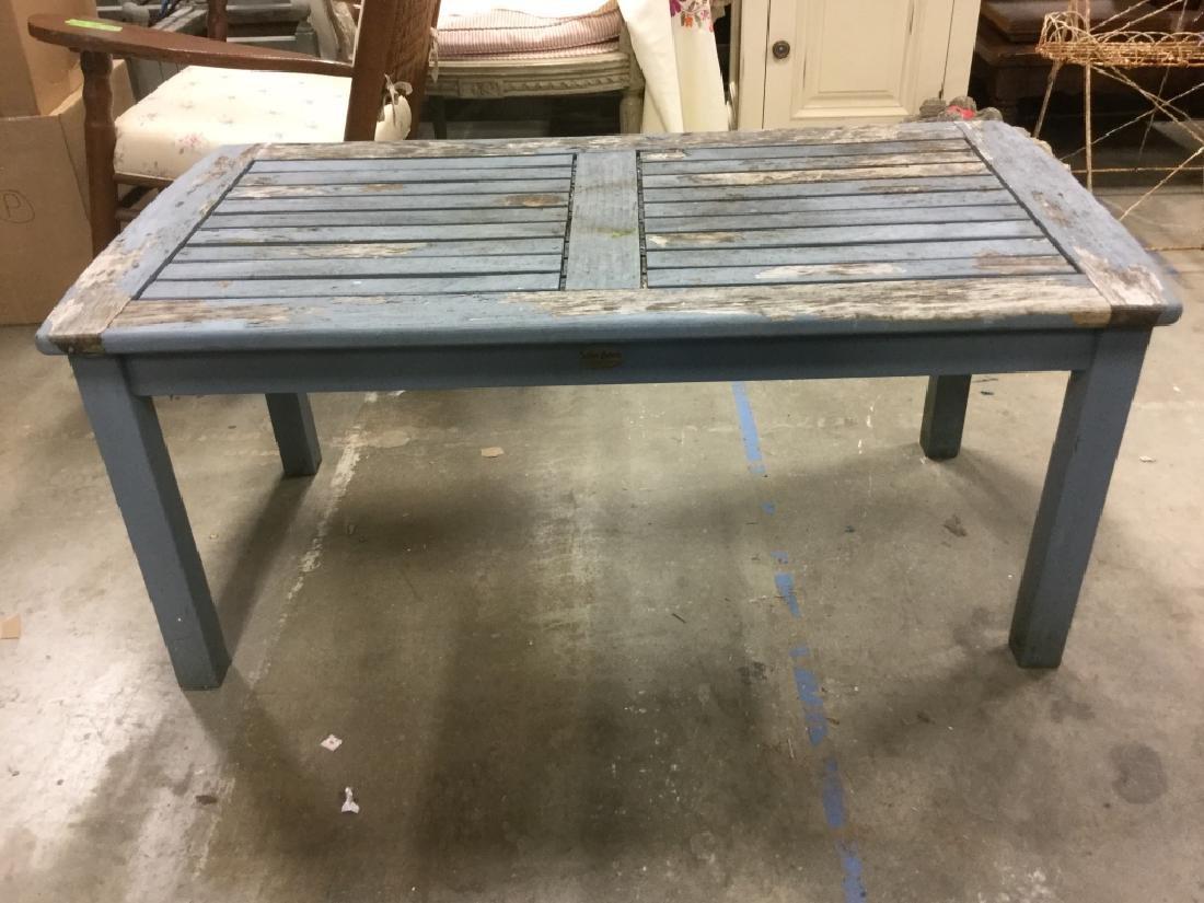 Lot 15 TEAK Light Blue Toned Furniture Set - 4