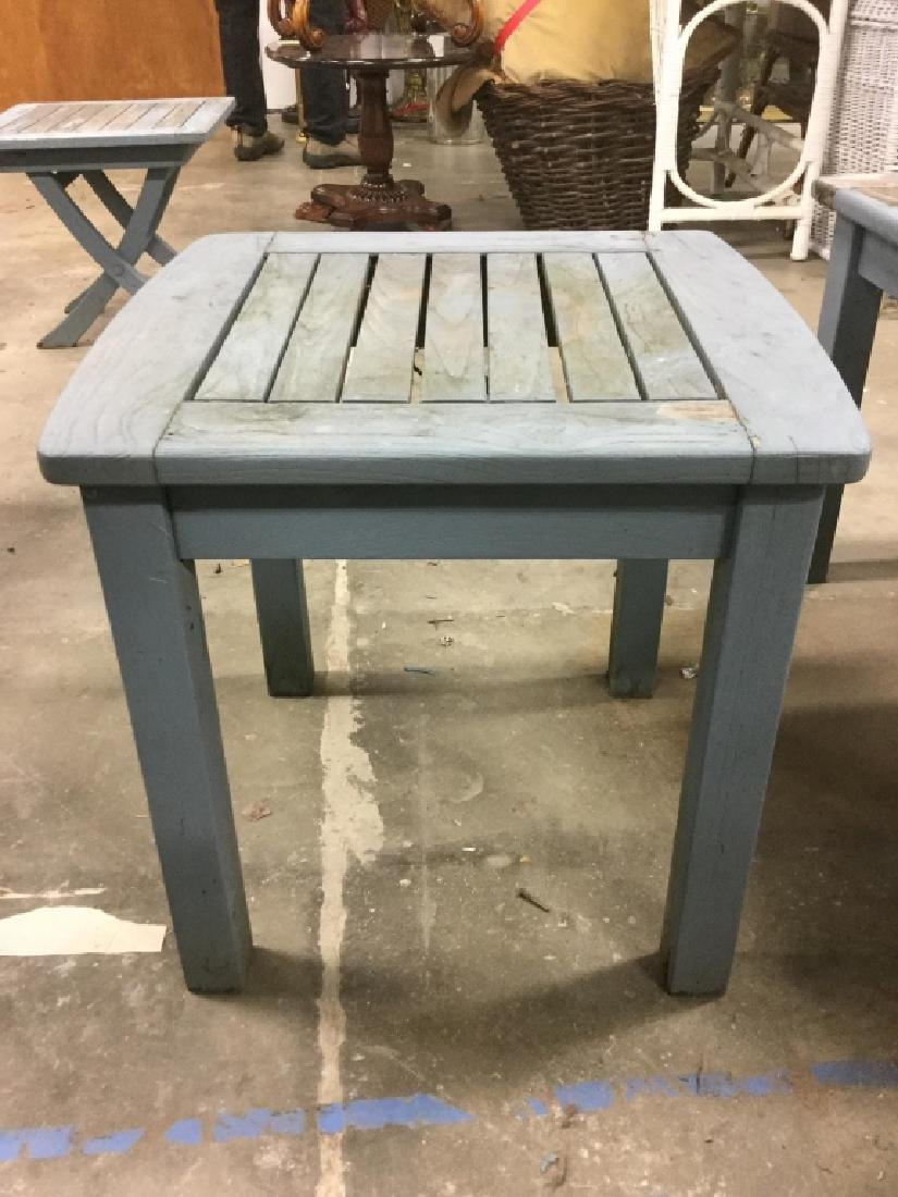 Lot 15 TEAK Light Blue Toned Furniture Set - 8