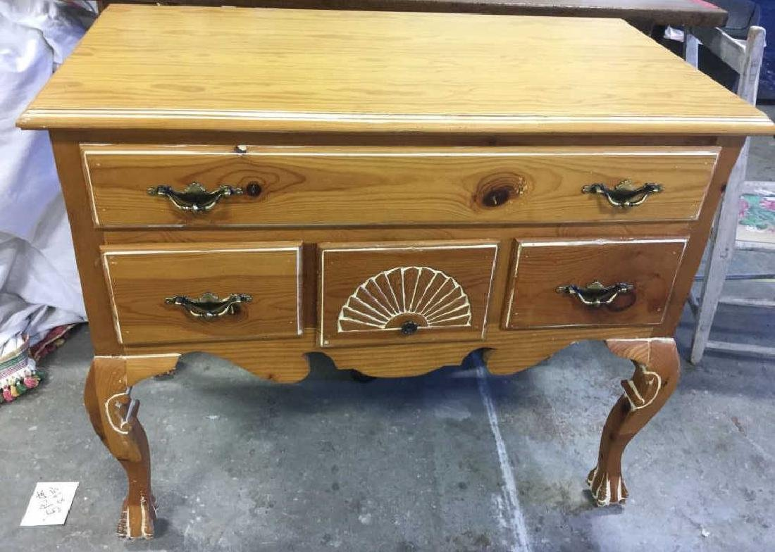 Light Toned Wood  Side Board Commode