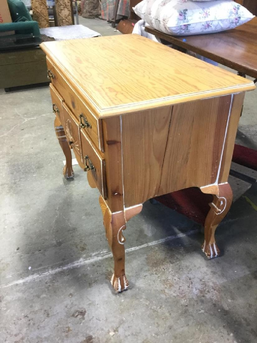Light Toned Wood  Side Board Commode - 3