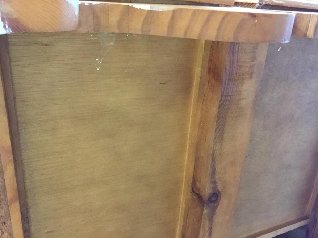 Light Toned Wood  Side Board Commode - 8