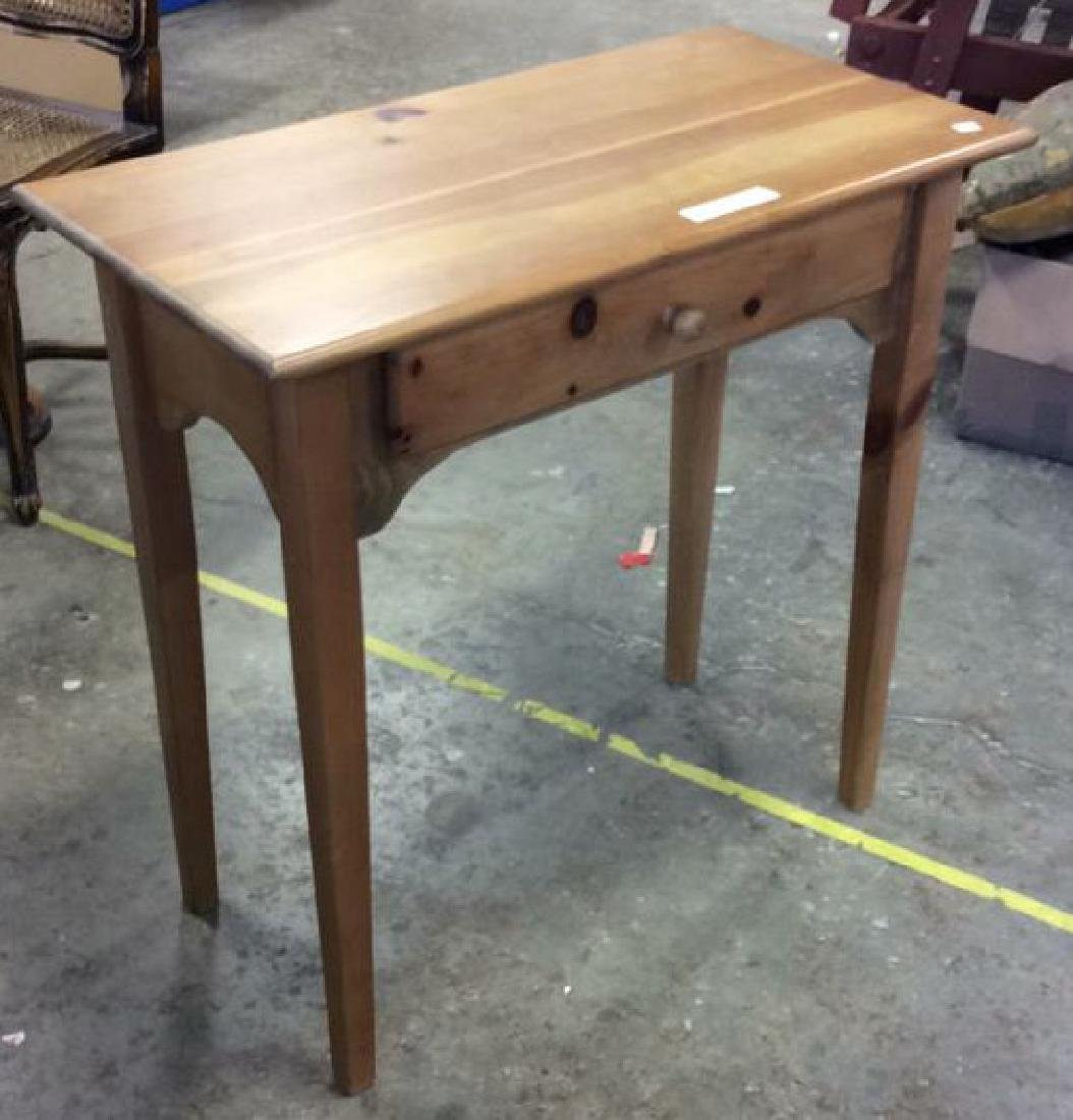 Country Pine Side Table W Drawer