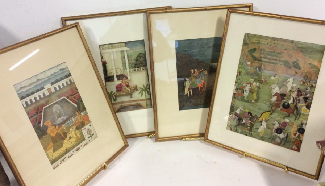 Group of Framed prints of Persian Scenes