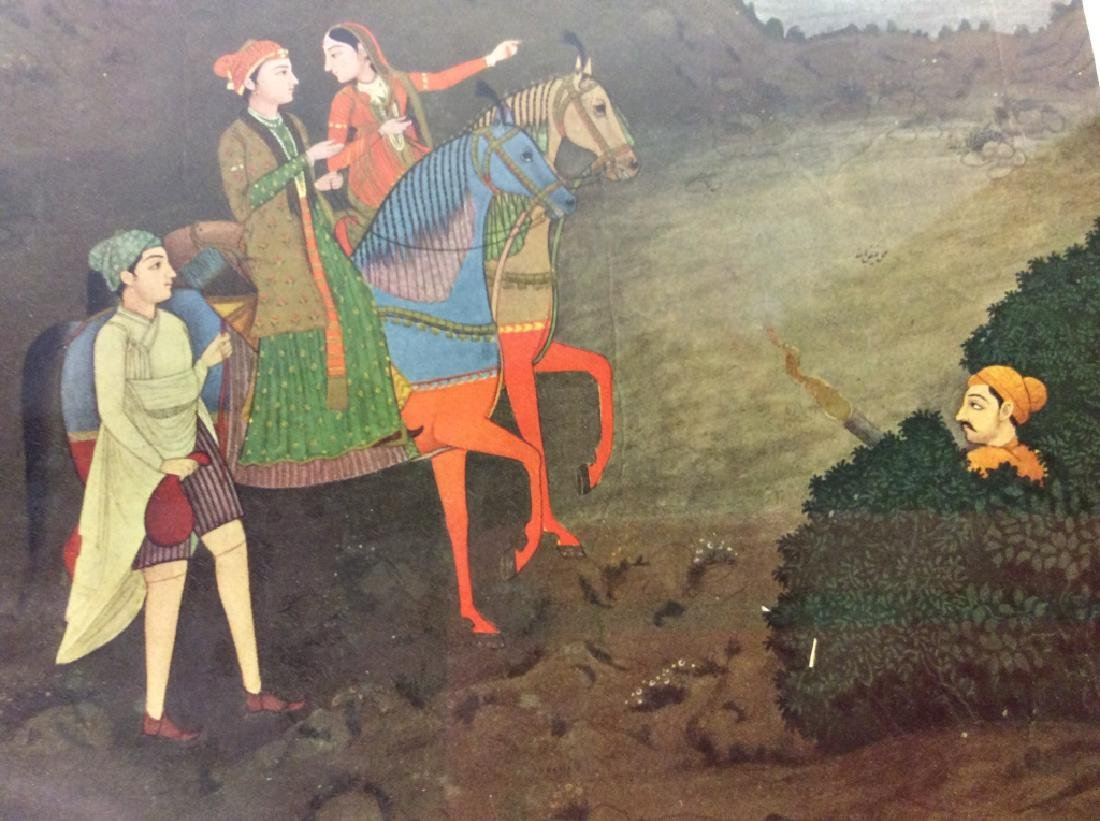 Group of Framed prints of Persian Scenes - 8