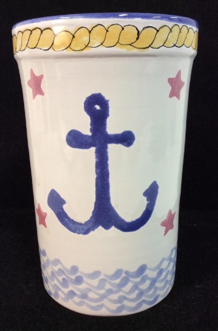 Handcrafted Ceramic Nautical Vase