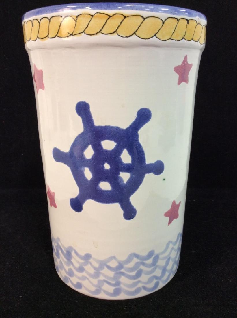 Handcrafted Ceramic Nautical Vase - 3