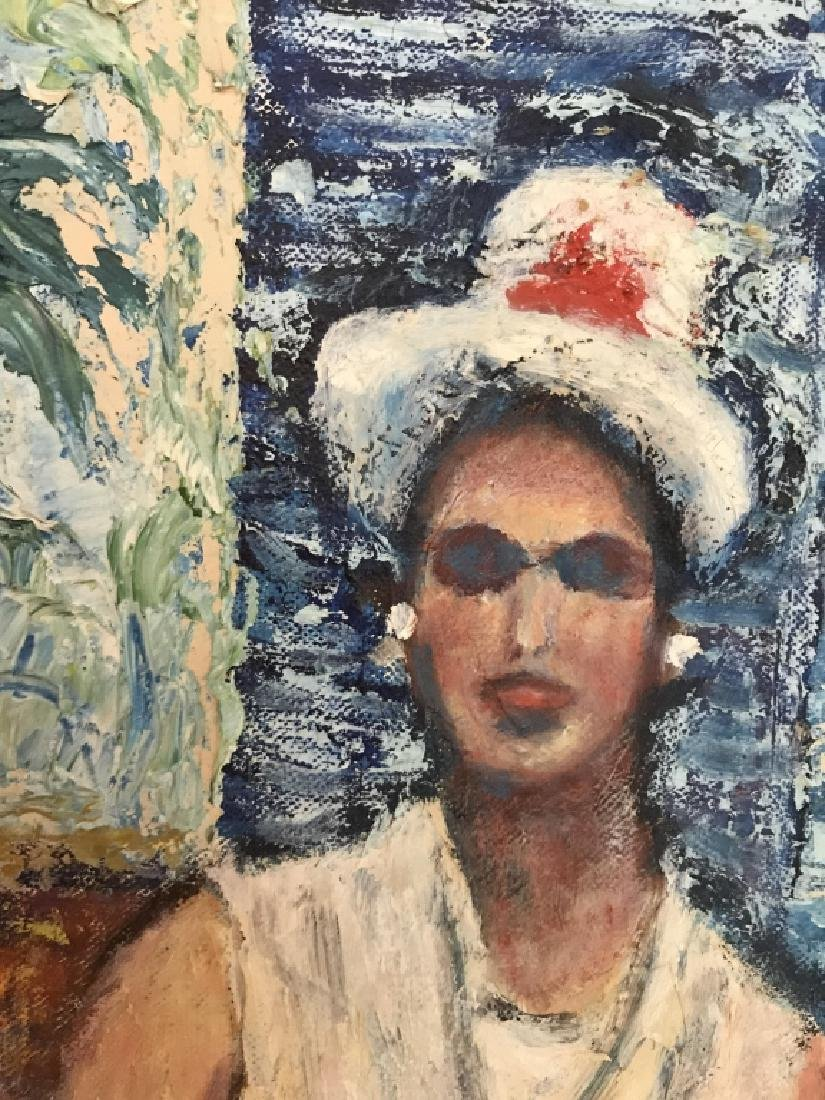Framed Painting Sitting Woman - 6