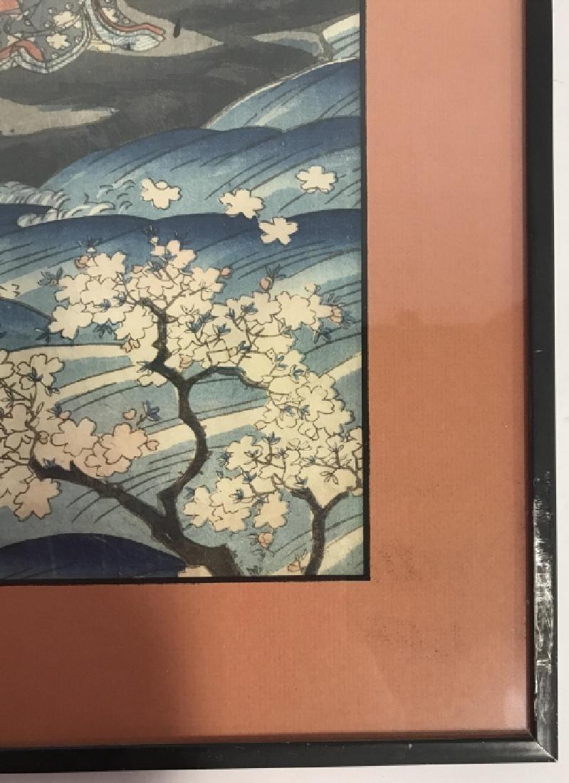 Framed Kunisada Japanese Dyptych Prints - 9