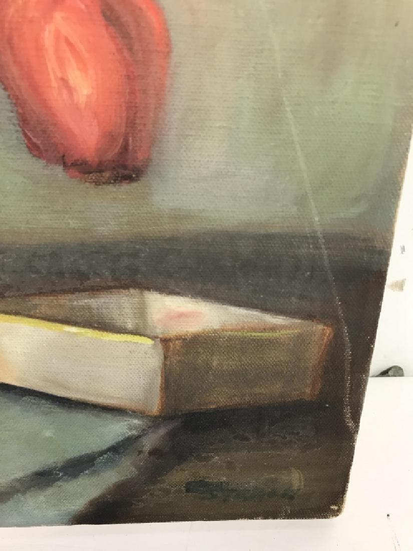 Still Life Oil On Canvas - 4