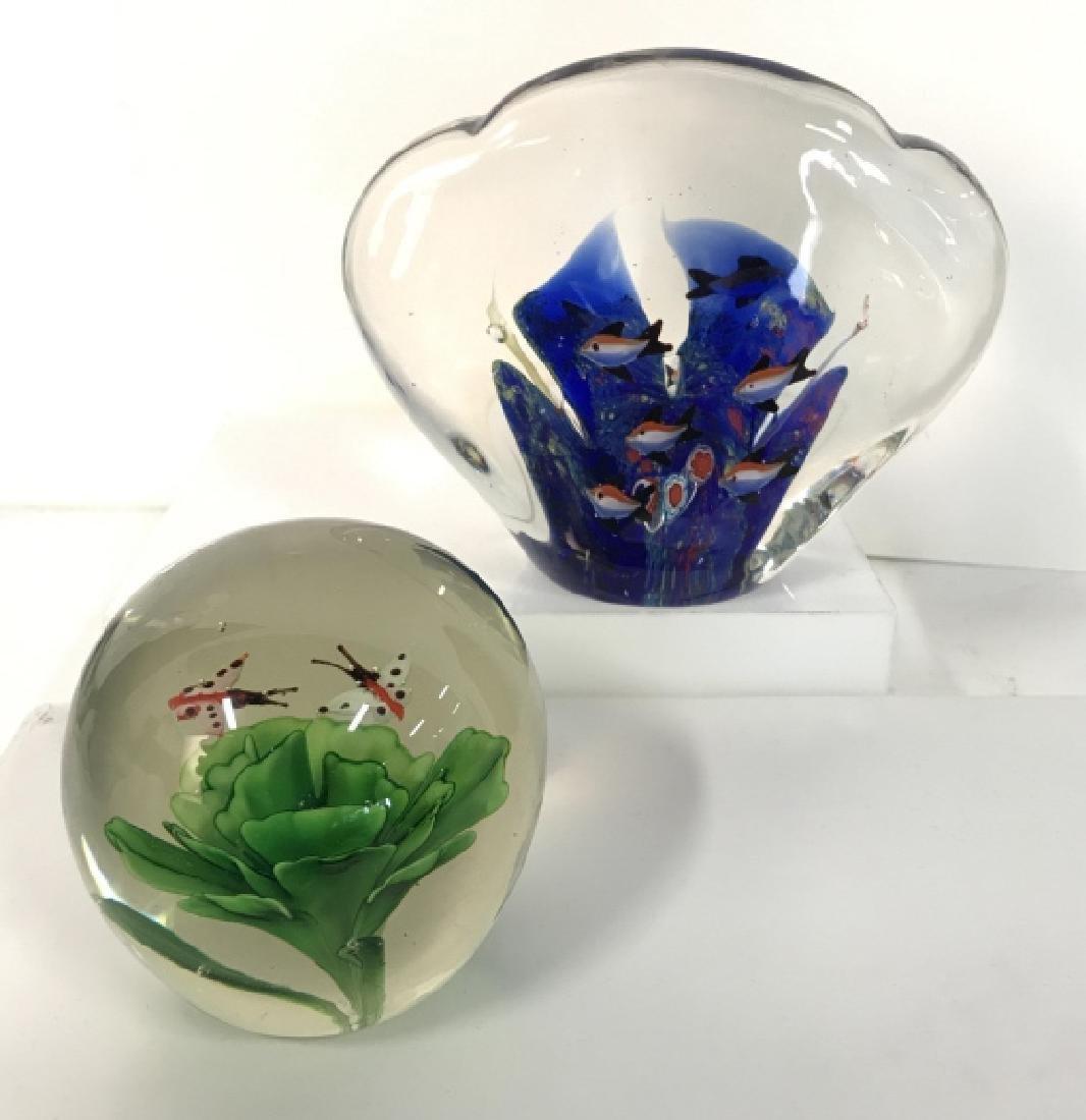 Lot 2 Poss MURANO Art Glass Paperweights - 2