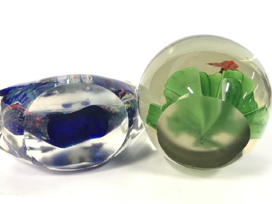 Lot 2 Poss MURANO Art Glass Paperweights - 8