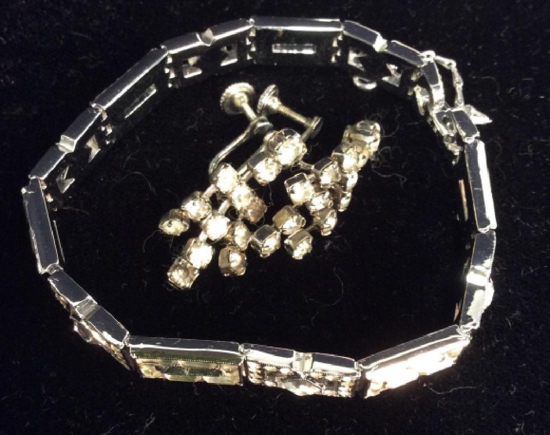 Lot 2 Vintage Rhinestone Costume Jewelry - 2