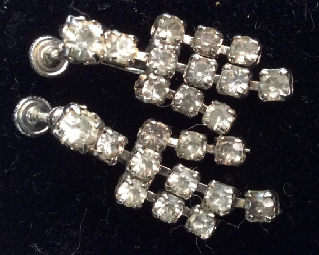 Lot 2 Vintage Rhinestone Costume Jewelry - 3