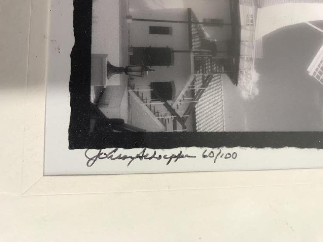 Framed and Signed B&W Photograph of Windmill - 3