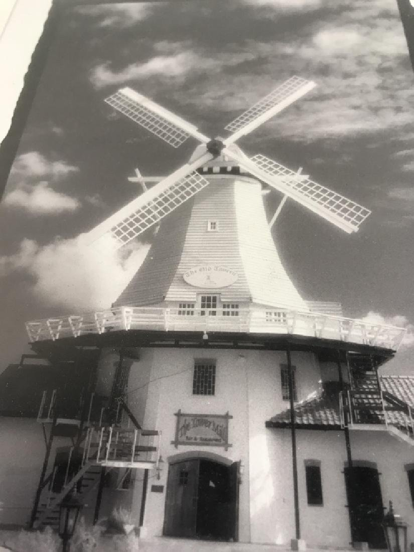Framed and Signed B&W Photograph of Windmill - 4