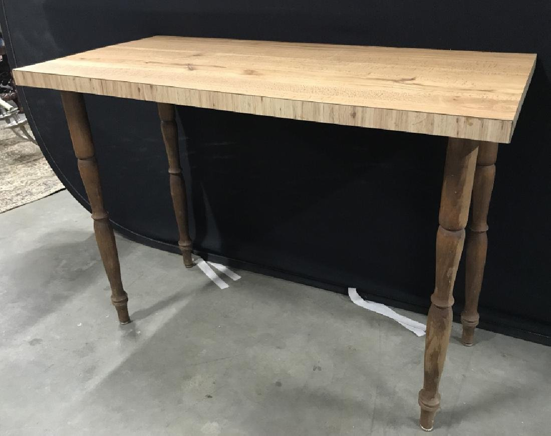 Wooden Hallway Table W Carved Legs