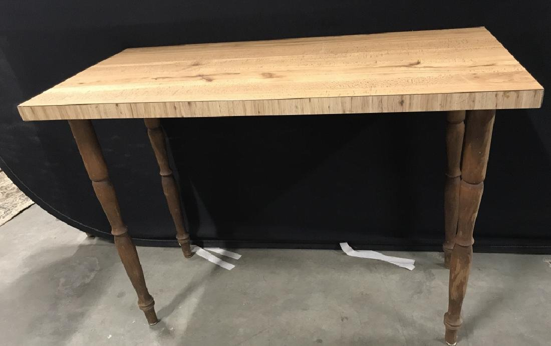 Wooden Hallway Table W Carved Legs - 2