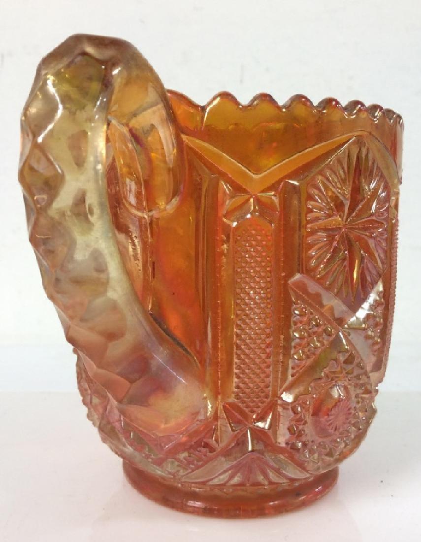 Carnival Glass Handled Vessel - 3