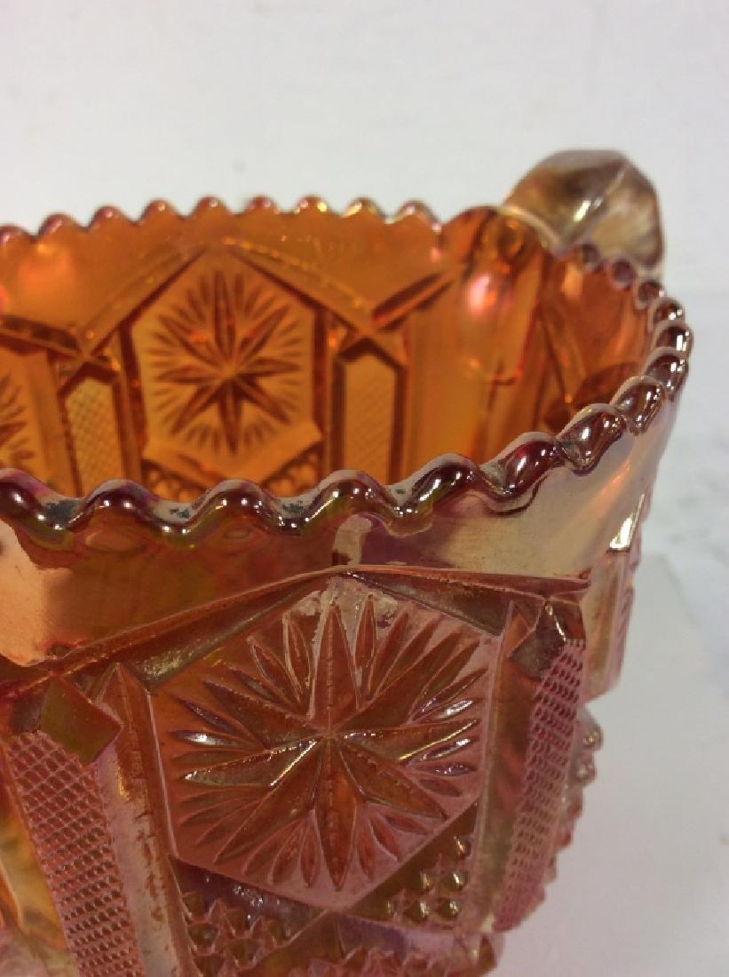 Carnival Glass Handled Vessel - 4