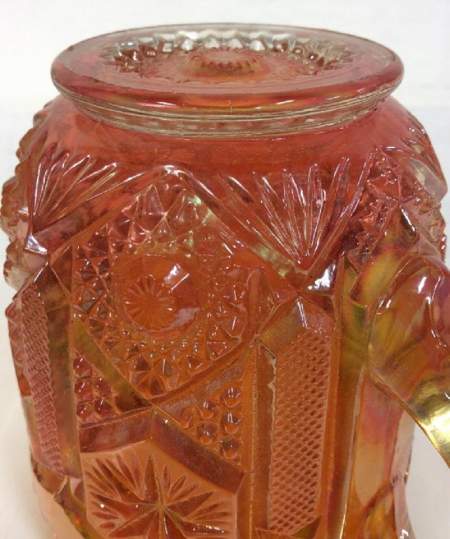 Carnival Glass Handled Vessel - 6