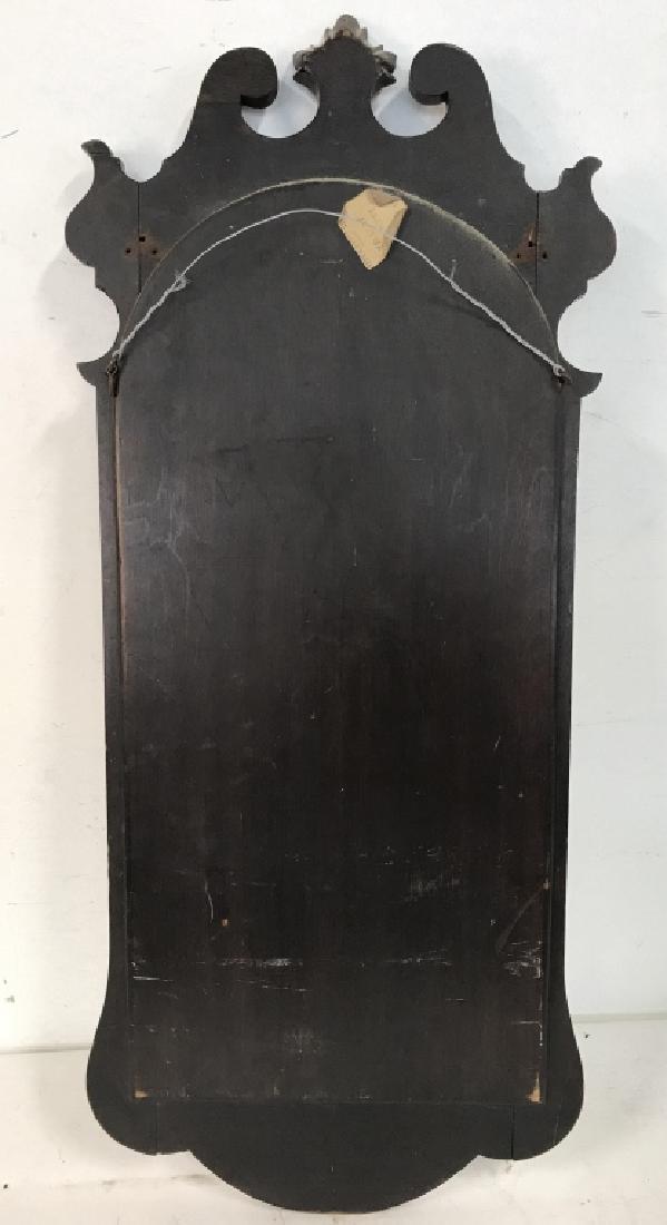 Carved Burl Wood Frame Mirror - 7