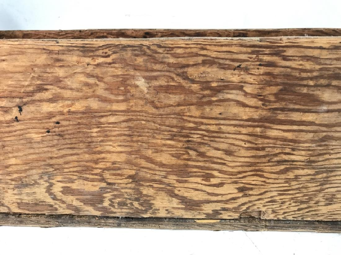 Large Vintage Pos Antique Wooden Tool Box - 6