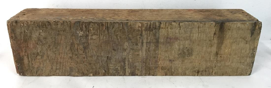 Large Vintage Pos Antique Wooden Tool Box - 7