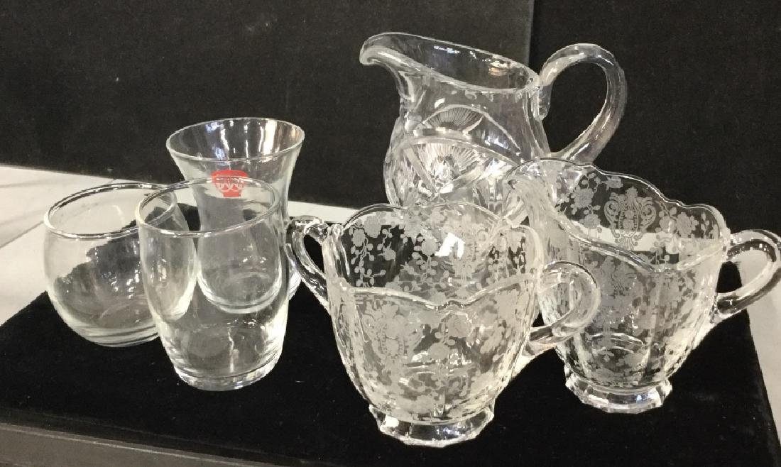 Group Lot of Etched and Cut Glass