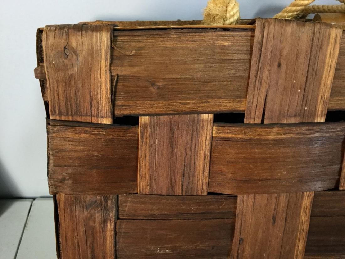 Vintage Wicker Lunch Basket - 9