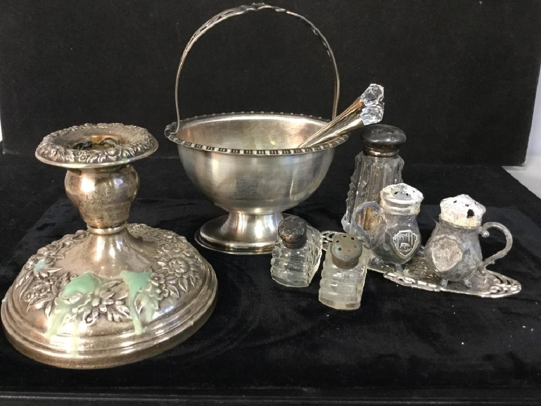 group Lot Of Silver And Silver Plated Tableware