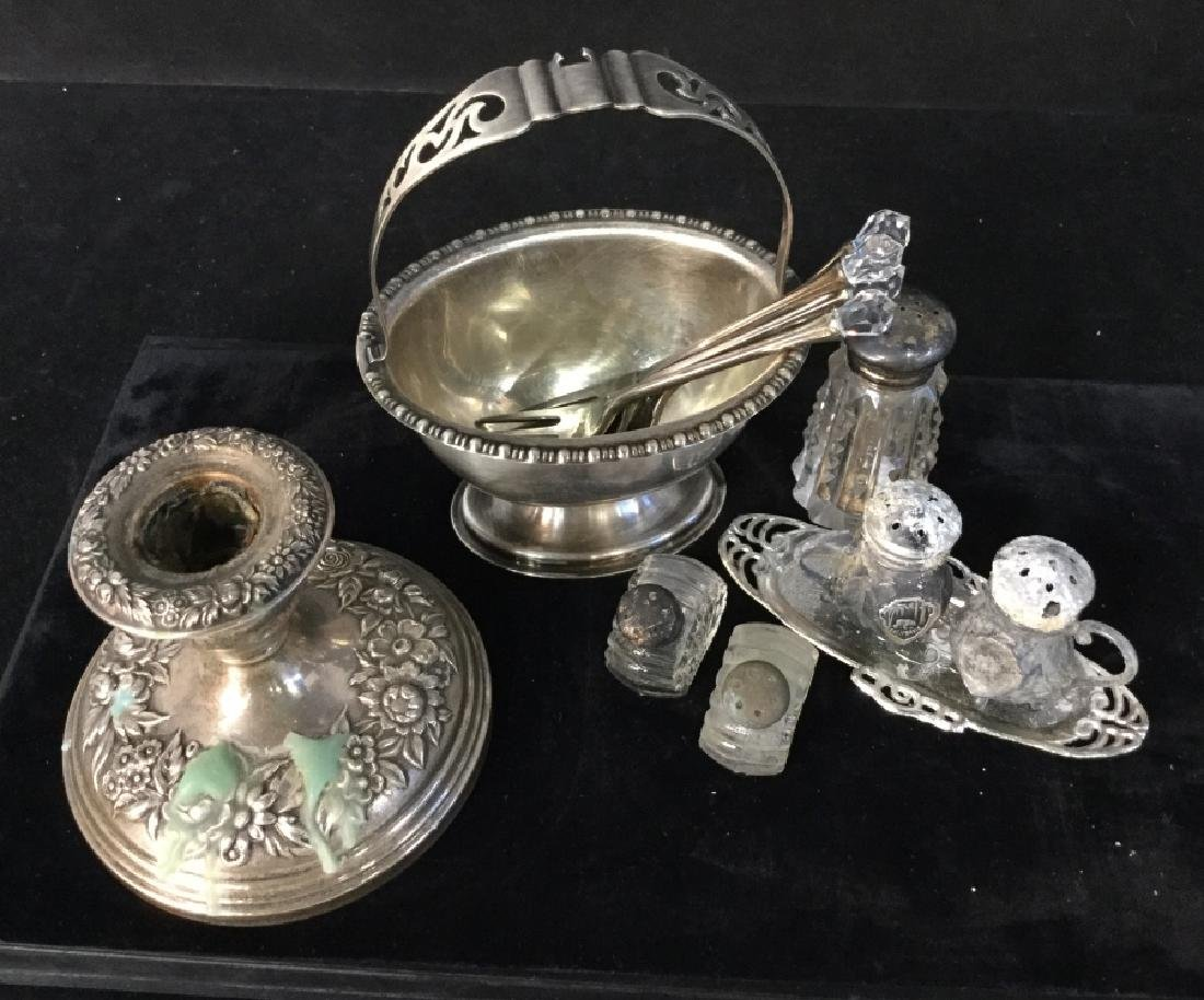 group Lot Of Silver And Silver Plated Tableware - 2