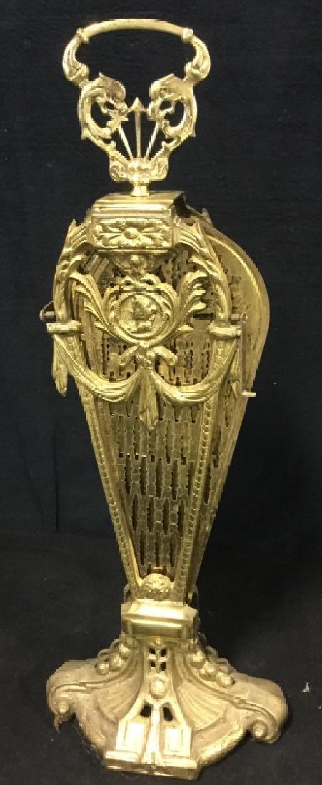 Victorian Brass Fireplace Ornament Screen - 10