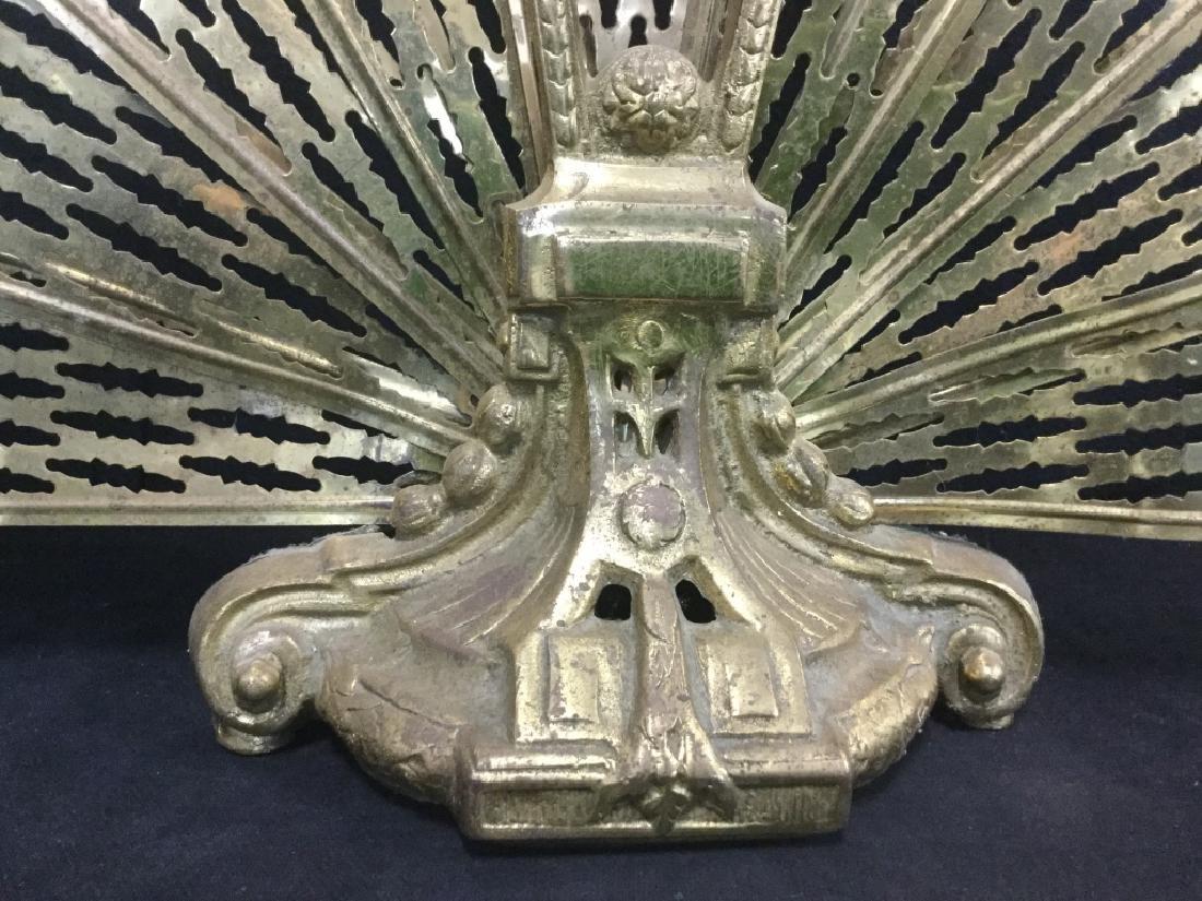 Victorian Brass Fireplace Ornament Screen - 4