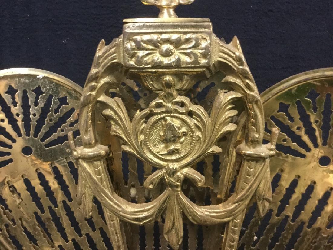 Victorian Brass Fireplace Ornament Screen - 6