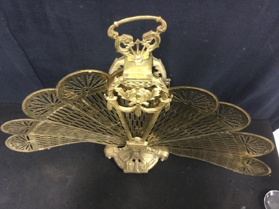 Victorian Brass Fireplace Ornament Screen - 9
