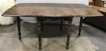 Extendable Drop Leaf Wooden Dining Table