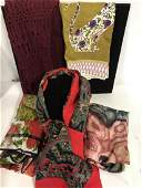 Group Lot of mixed material Ladies Scarves
