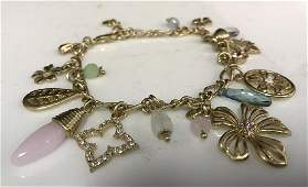 Vintage Gold toned Charm Bracelet