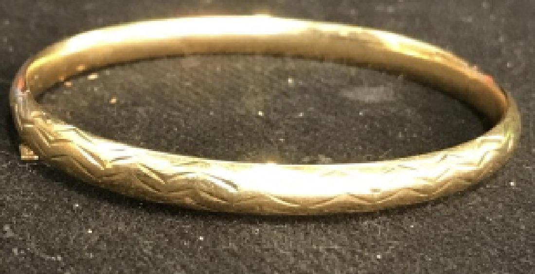 14k Gold Bangle Bracelet Jewelry,