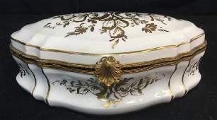 Signed French Porcelain Keepsake Box