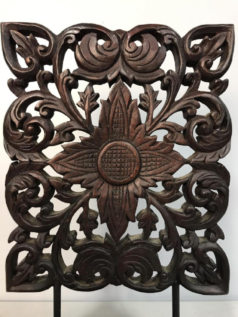 Intricately Carved Wooden Sculpture - 2