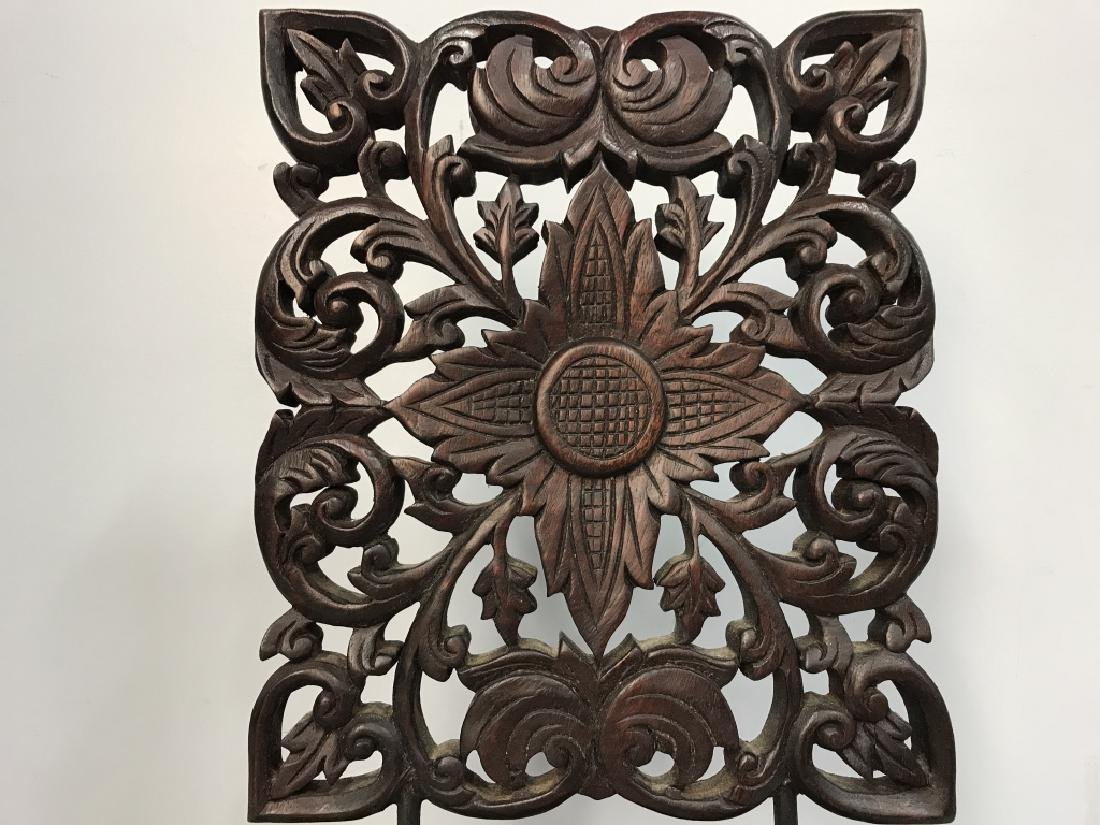 Intricately Carved Wooden Sculpture - 3