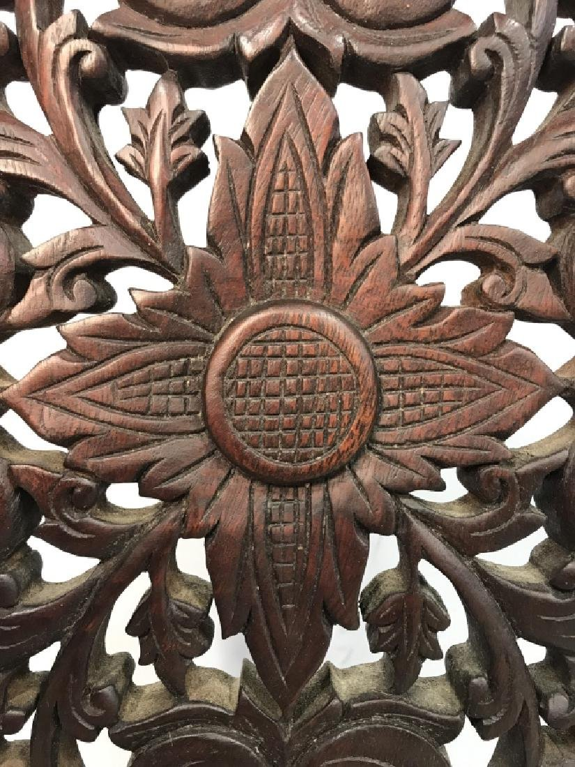 Intricately Carved Wooden Sculpture - 4
