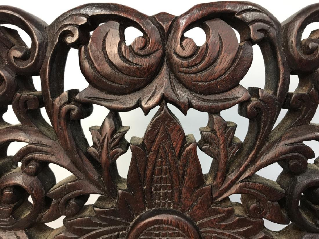 Intricately Carved Wooden Sculpture - 5