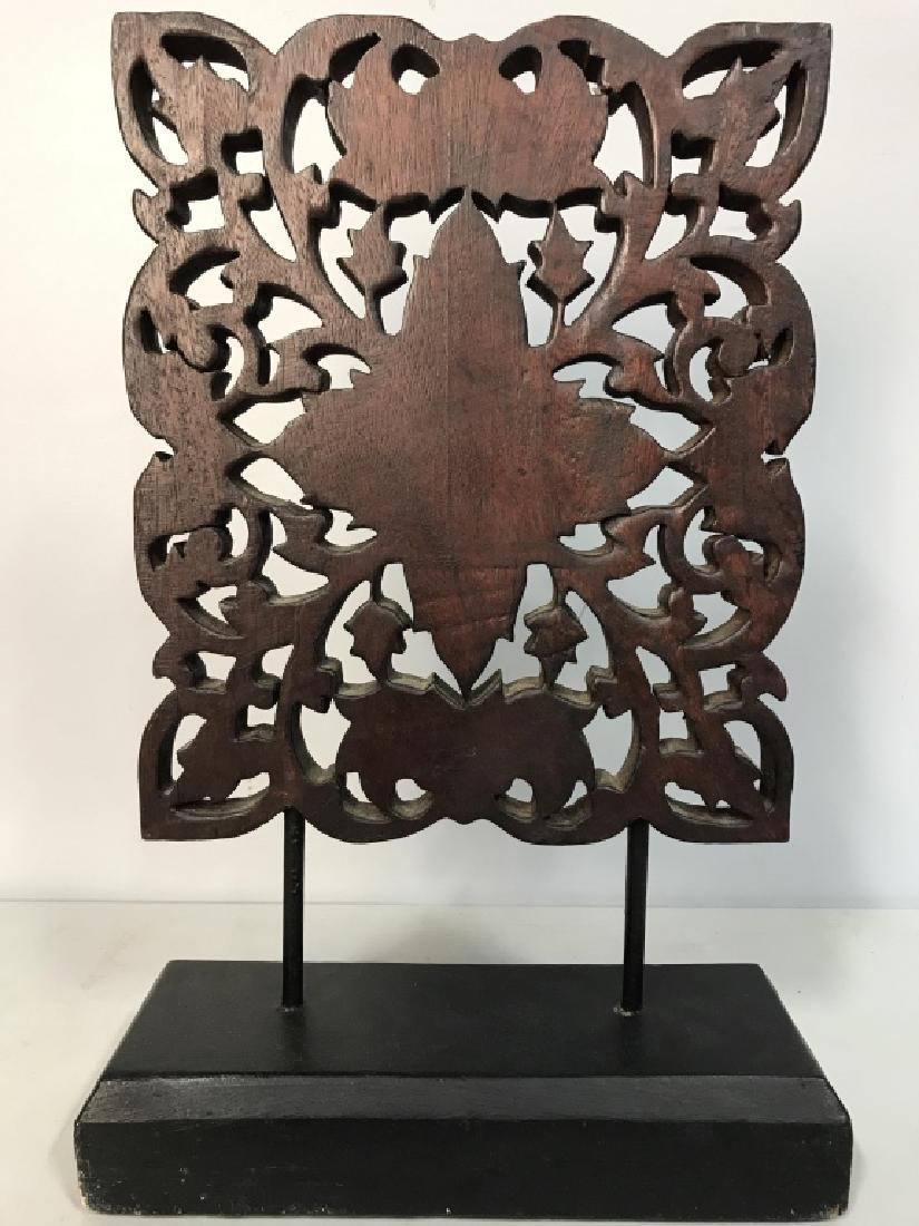 Intricately Carved Wooden Sculpture - 7