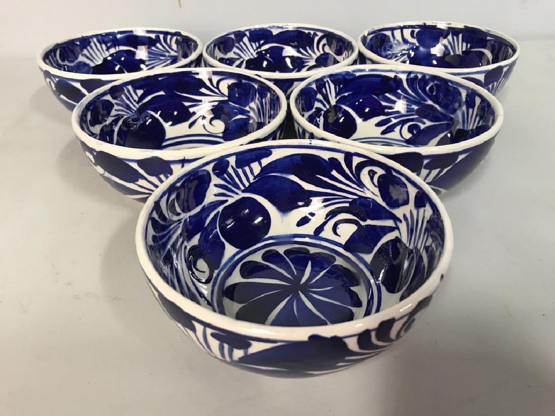 Set 6 Porcelain Hand Painted Bowl