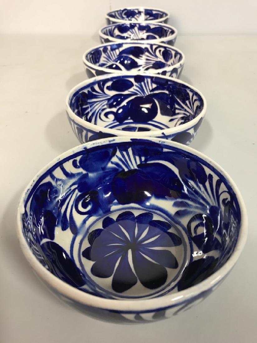 Set 6 Porcelain Hand Painted Bowl - 8
