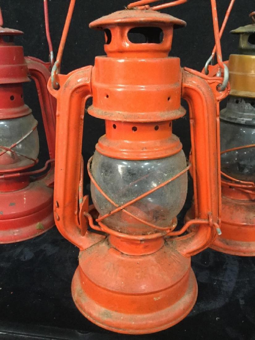 Vintage Metal group of lanterns and milk crate - 7