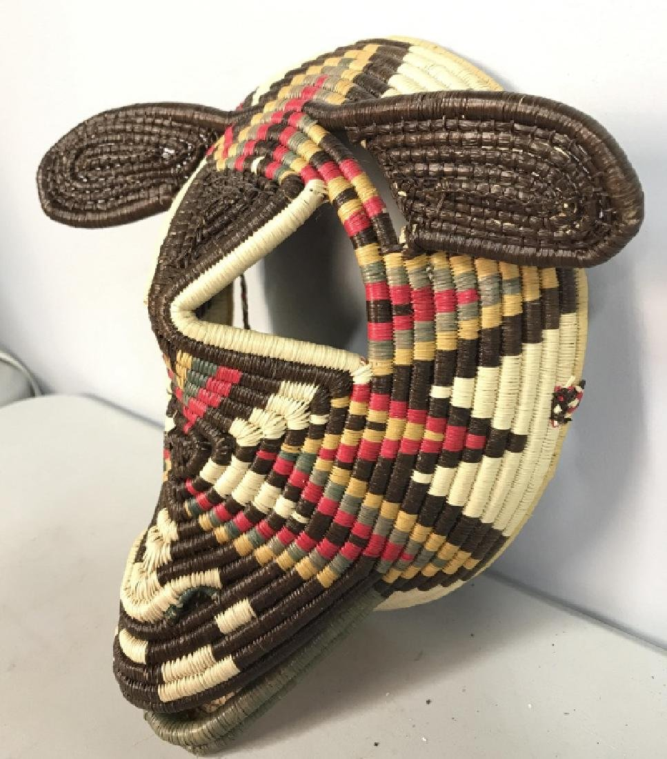 Woven African Style Mask - 4
