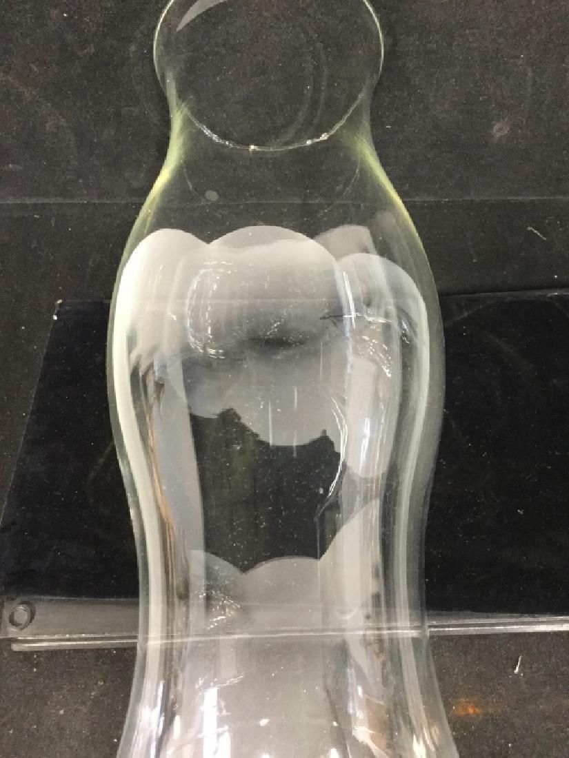 Pair of Glass Hurricane Lamps - 9